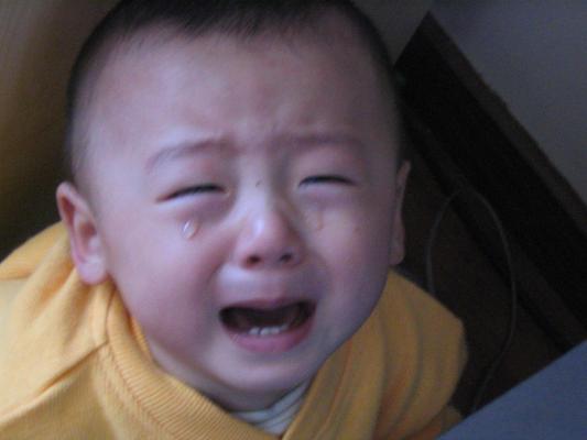 哭脸宝宝图片_《宝宝哭脸抓拍276号》精灵妞妞哭泣的大花