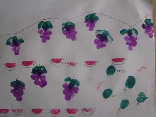 可爱的幼儿手指印画图片