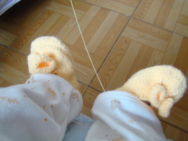 [图]钩针编织宝宝鞋 - 流行时尚 - 手工坊论坛 - 育儿论坛 - 育儿网 - 小敏 - 我爱子彦