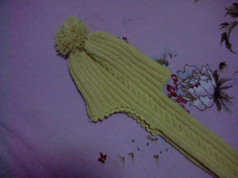 适合新手很好学的宝宝围巾帽 - song-violet - 盘丝洞绒线博客