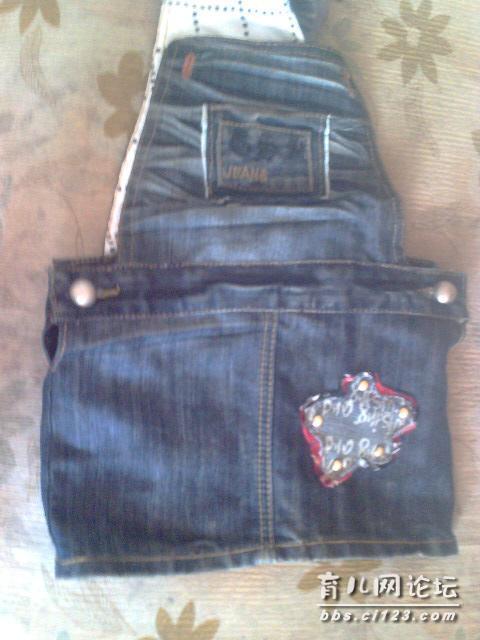 旧衣改造——牛仔裤改女童背带裙