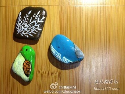 昨天画简单的石头画,附简要教程 流行时尚 手工坊论坛