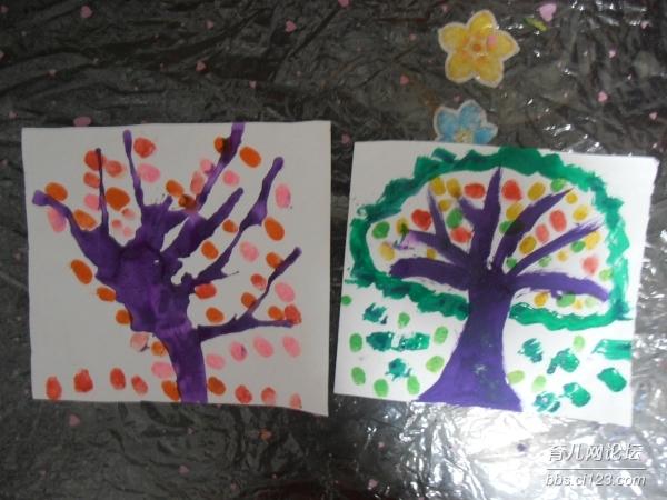 南南的 颜料画 幼儿园 论坛 育儿