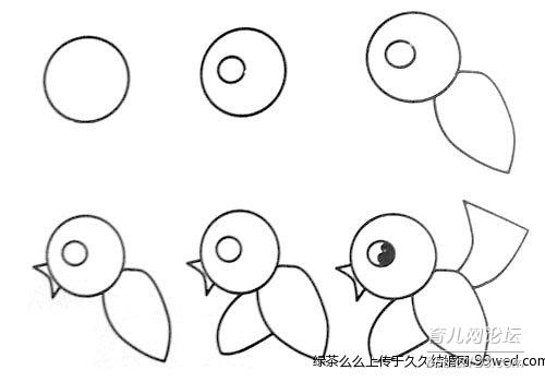 学几个可爱的动物简笔画