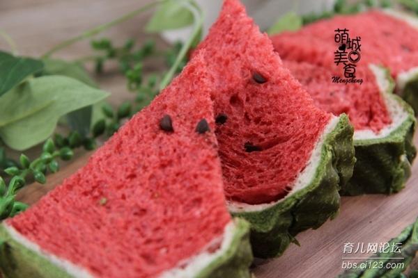 夏日清爽系-没有西瓜的西瓜吐司,给视觉降降温